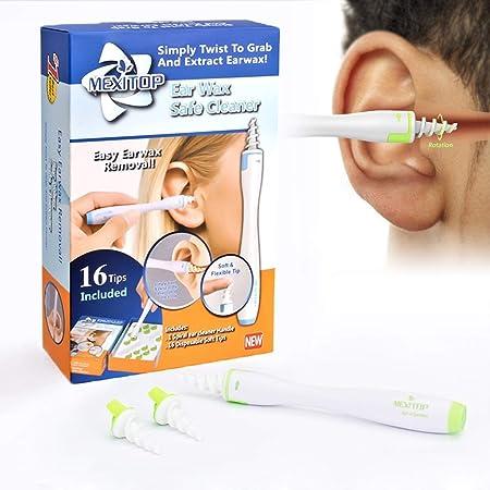 Sharplace Ohrenreiniger Ohrreiniger Ohrenschmalz Ohrwachs Entferner f/ür zu Hause und Unterwegs