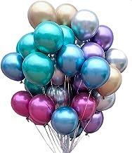 yyuezhi 50Pcs Globos Metálicos para Cumpleaños Globos Metalizados Metalicos Globos de Látex Globos para Fiestas Vintage Deco Decoración de la Boda Baby Shower Decoracion de Cumpleaños(Color Mezclado)