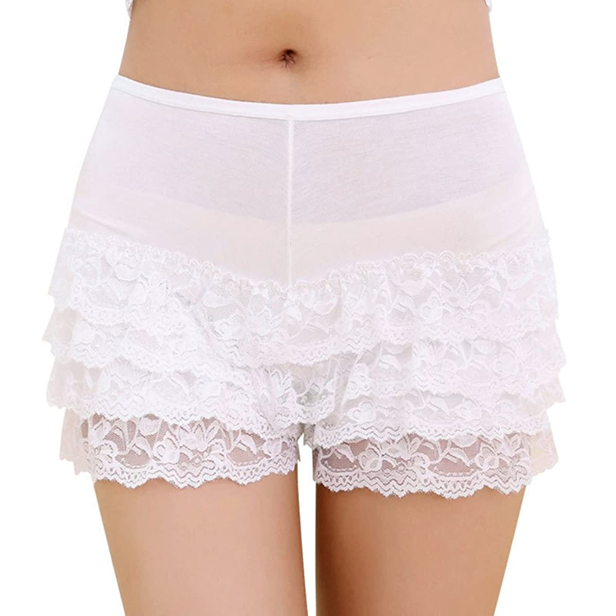 RARITY-US Women Layered Lace Sexy Short Hot Pants Leggings Tights Pettipants Underpants Underwear