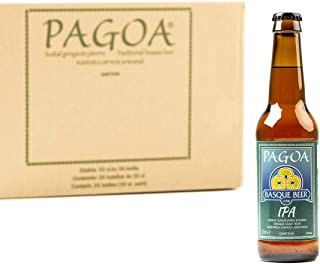 Pagoa - Cerveza Artesana - Pack de 24 Botellas x 33 cl – IPA Indian Pale con Extra de Lúpulo - Pioneros de la Cerveza Artesanal en España desde 1998 - Formato Ideal para Consumir en Casa