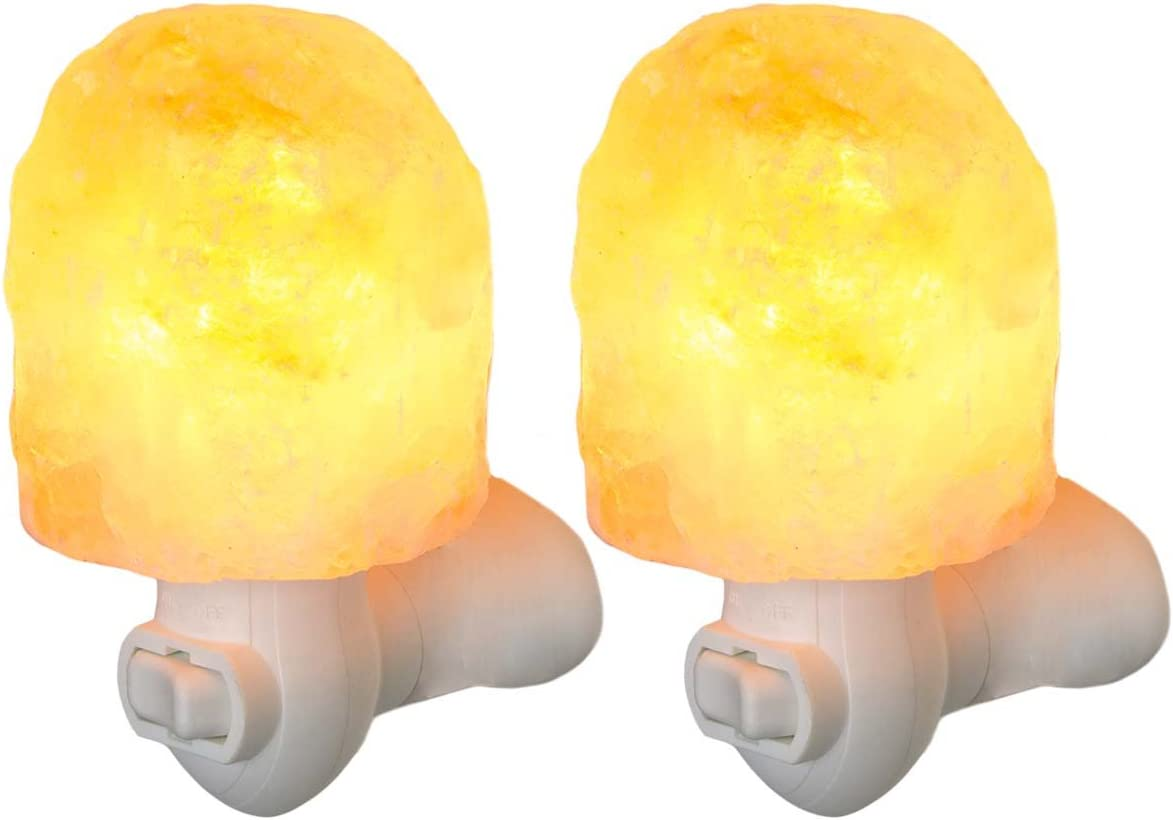 Simply Genius 2 Pack Himalayan Popular brand in the world Night Lamp Natural Charlotte Mall Salt Light