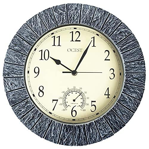 13-Inch Indoor Outdoor Clock by OCEST