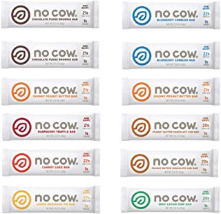 No Cow Protein Bar Variety Pack - 8 Flavors (12 Pack)
