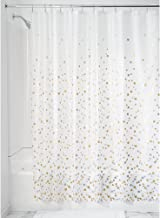 InterDesign Confetti Decorative PEVA 3G Shower Curtain Liner - 72 x 72, Silver/Gold