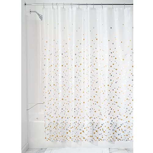 InterDesign Decorative PVC Free PEVA 3 Gauge Shower Curtain Liner 183 X