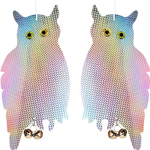 Owl Bird Items to Keep Birds Away from Your House Window Garden (Effective Hanging to Drive Away Bird) 2 Pack