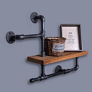 Duo baldas Industrial Vintage Style Iron Pipe Estante Colgando de la Pared Percheros Estante Living Room Furniture Librería 1 unid organización