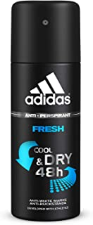 adidas Fresh Cool & Dry 48h Anti-Perspirant Spray for Men, 150 ml