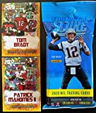 2020 Score NFL Football Factory Sealed JUMBO FAT PACK with 40 Cards Including (6) RC & (7) PARALLEL/INSERTS! Plus NEW Gold Patrick Mahomes and a Tom Brady Custom Football Cards!