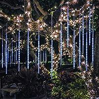 【Spezifikationen】 Die Meteorschauer Lichterkette besteht aus 10 Röhren, 50 cm pro Röhre, zu je 54 LEDs pro Röhre. Die Kabellänge ist insgesamt 7 m lang. Davon sind 3 m mit den Röhren beleuchtet, 3 m ist das Kabel zum anschließen und 80 cm anschließen...