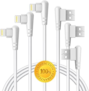 Boost 3FT 6FT 10FT Right Angle Phone Cable 3-Pack Fast Charger Data Line Cord Elbow for Game Video Compatible with Smart Phone,iPad, Pod and More (Smooth TPU)