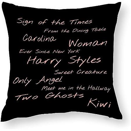 Funda de cojín decorativa con diseño de Harry Styles, 45 x 45 cm, de algodón, con cremallera oculta, muy suave, para sofá, cama, dormitorio, oficina, coche