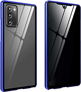 ELECDON for Galaxy Note 20 Ultra Clear Case, Lens Protection Cover with Magnetic Metal Frame Tempered Glass Protective Cov...