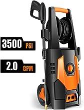 CHAKOR Pressure Washer 3500 PSI, 2.0GPM Power Washer Machine, 1800W High Pressure Cleaner with 4 Adjustable Nozzle, Spray Gun, Hose Reel, Brush (Orange)