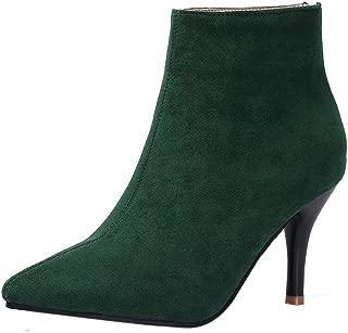 JOJONUNU Women Fashion Bootie Pointed Toe Stiletto Heels Boots