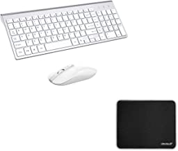 Wireless Keyboard Mouse Combo with Mouse Pad