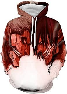 Men Attack on Titan 3D Print Pullover Hoodie Sweatshirt with Front Pocket