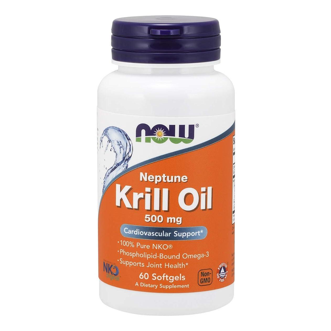 リズミカルな縫うアウトドア[海外直送品] ナウフーズ   Neptune Krill Oil 60 Sgels 500 mg