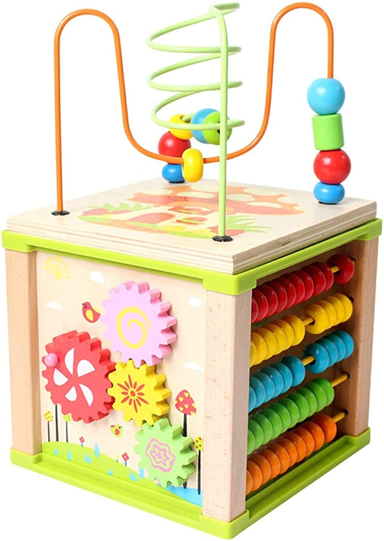 Zhijiewanju HolzperlenLabyrinthWürfel  Spielzeug für Babys Kinder und Kinder Lernen Farben, Formen, Buchstaben und Zahlen