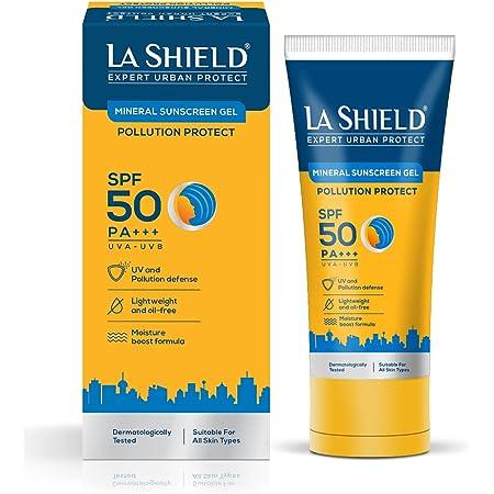 La Shield Pollution Protect Mineral Sunscreen Gel Spf 50, WHITE, 50 gram