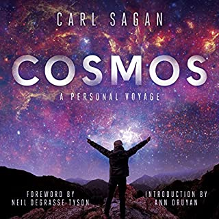 Cosmos                   By:                                                                                                                                 Carl Sagan                               Narrated by:                                                                                                                                 LeVar Burton,                                                                                        Seth MacFarlane,                                                                                        Neil deGrasse Tyson,                   and others                 Length: 14 hrs and 31 mins     1,187 ratings     Overall 4.6