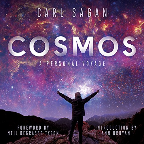 Cosmos                   By:                                                                                                                                 Carl Sagan                               Narrated by:                                                                                                                                 LeVar Burton,                                                                                        Seth MacFarlane,                                                                                        Neil deGrasse Tyson,                   and others                 Length: 14 hrs and 31 mins     270 ratings     Overall 4.7