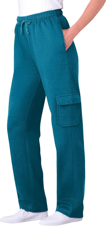 Woman Within Women's Plus Size Better Fleece Cargo Sweatpant Pant