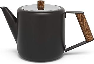 Bredemeijer 111004 Boston dzbanek do herbaty ze stali nierdzewnej, 1100 ml, czarny