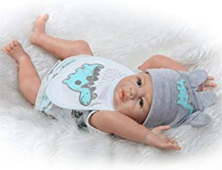 Lullaby 20inch Reborn Baby Dolls Silicone Full Body Realistic Newborn Boy Dolls Hand-Rooted Mohair Best Birthday/Xmas Gifts
