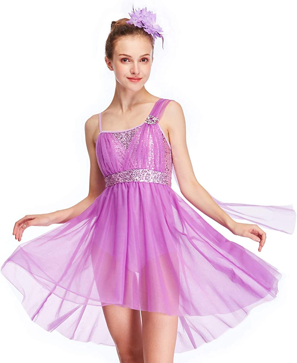 MiDee New color Tulle Athletic Dance Dresses S Girl's Costume Camisole for New color