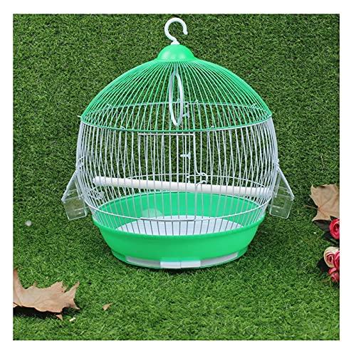 Gabbia per uccelli Arrotondato Pet Starling Cage Birdcage Durevole Traspibile Lavabile Appeso Appeso Volo Cage Decorativo Prodotti per animali domestici Quattro colori disponibili Gabbia Voliera