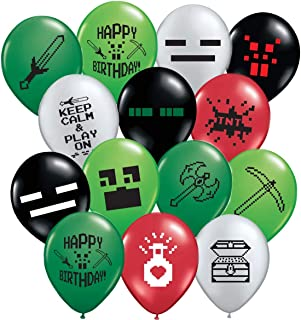 Gypsy Jade's 24 Pixelated Party Balloons - Large 12
