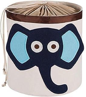 MJY Paniers à linge, éléphant de bande dessinée moderne et mignonne Paniers à linge imperméables avec poignée Grande capac...