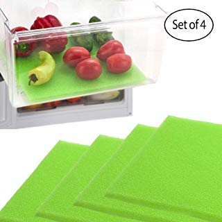 Dualplex Fruit & Veggie Life Extender Liner for Fridge Refrigerator Drawers (4 Pack) – Extends The Life of Your Produce & Prevents Spoilage, 13 X 10.5 Inches