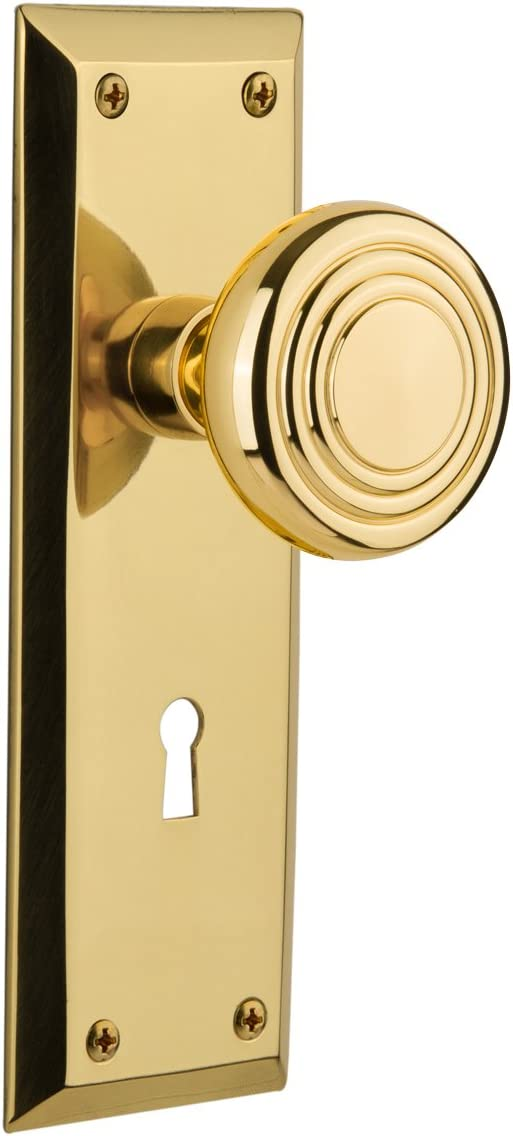 Nostalgic Warehouse Philadelphia Mall New York Plate Priva Keyhole High quality new Knob with Deco
