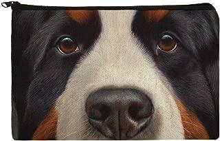 Bernese Mountain Dog Face Closeup Makeup Cosmetic Bag Organizer Pouch