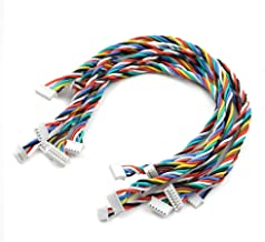 9 PCS 1.25mm to 1.25mm Pitch Cable Wire for Pixhawk APM2.8 2.6 Flight Controller Quadcopter RC Drone 3Pin to 8P