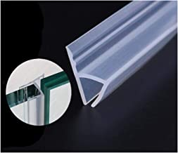 Glass Shower Door Seal Strip(Need Silicone Glue), 120inch Frameless Weather Stripping Seal Sweep for Door Windows, Flexible with Durable Weatherproof Silicone for 3/8