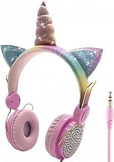 Kids Headphones Unicorns Headphone Wireless Bluetooth Headset Stereo Music Stretchable Cartoon Earphone For Adult Boy Girl Giftsfor Mobile Phones Ipad Computer Cds Etc