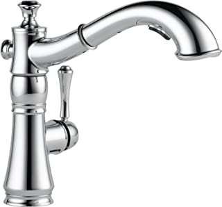 Delta Faucet Cassidy Single-Handle Kitchen Sink Faucet with Pull Out Sprayer and Magnetic Docking Spray Head, Chrome 4197-DST