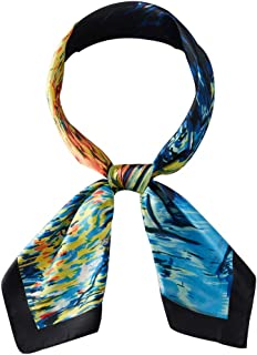 blue silk head scarf