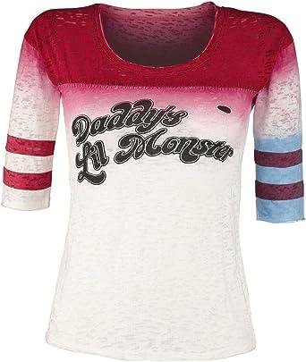 Escuadrón Suicida Harley Quinn - DaddyS Little Monster Mujer Camiseta Manga Larga Multicolor