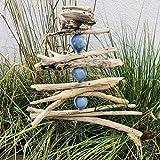 NEU: Gartendeko aus Treibholz mit handgefertigten Tonkugeln