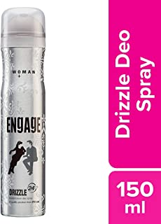 Engage New Metal Range for Women, Drizzle, 150ml / 165ml (Weight May Vary)