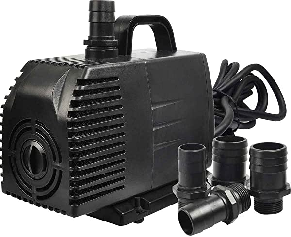 Simple Deluxe 1056 GPH Submersible Pump With 15 Cord Water Pump For Fish Tank Hydroponics Aquaponics Fountains Ponds Statuary Aquariums Inline