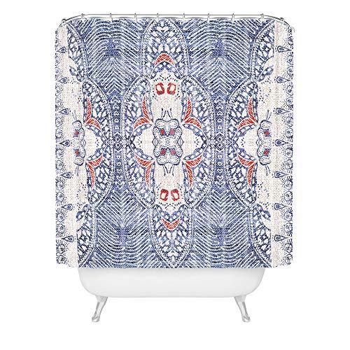 Deny Designs Holli Zali Duschvorhang, französisches Leinen, 182,9 x 175,9 cm, Blau
