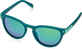 Girl's Pld8026s Polarized Oval Sunglasses, GREEN, 47 mm