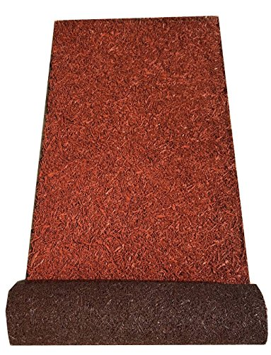 BACKYARD EXPRESSIONS PATIO · HOME · GARDEN 912282 Rubber Mulch Pathway, 72 Inch, Brown