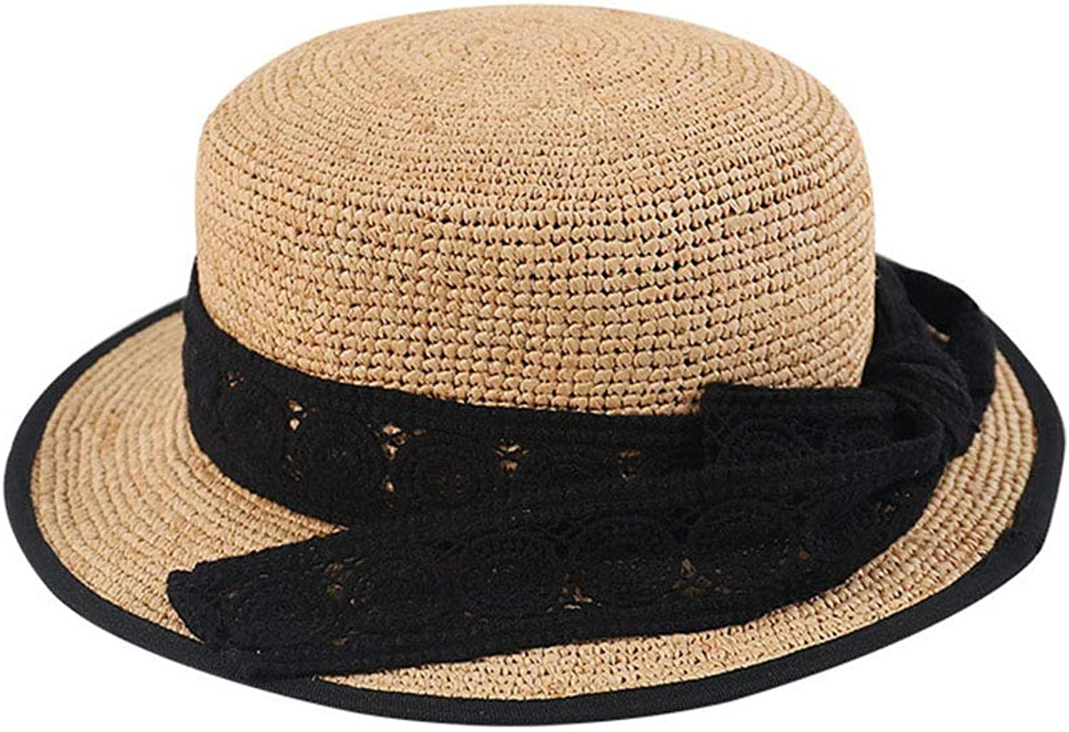59dc8de26e7c6e Lace Bow Straw Hat, 2019 Summer Outdoor Beach Hat, Sun UV Visor Big Hat,  Outdoor Sports Leisure Shopping Vacation Women's Predection  ntcznn2707-Sporting ...