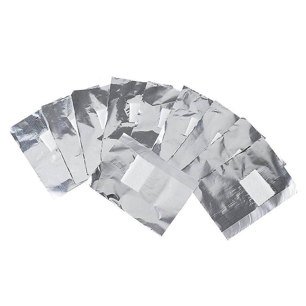 エゴイズム使用法ナイロンlurrose 100ピースネイルポリッシュリムーバーネイルホイルラップネイルジェルリムーバーはがし綿綿パッド